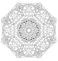 mandala for coloring decorative zentangle vector image