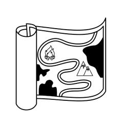 Map orienteering draw icon vector