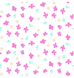 Millefleur pink small abstract seamless pattern vector