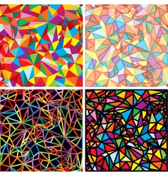 mosaic abstraction vector image