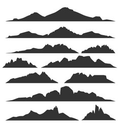 mountain silhouettes set vector image