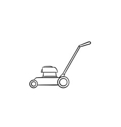 Mower hand drawn sketch icon vector