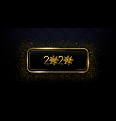 new year creative card 2020 with christmas bow vector image