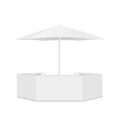 Outdoor counter bar and parasol isolated vector