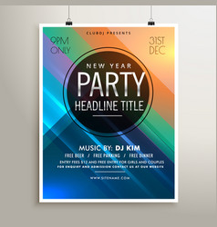 Party event flyer template with colorful stripes vector