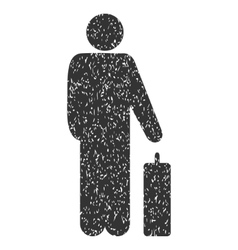 Passenger Icon Rubber Stamp vector