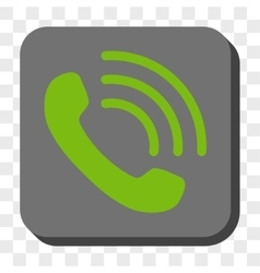 Phone Call Rounded Square Button vector image