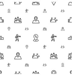 position icons pattern seamless white background vector image