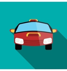 Red racing car icon in flat style vector