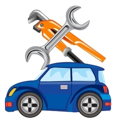 Repair of the cars vector image