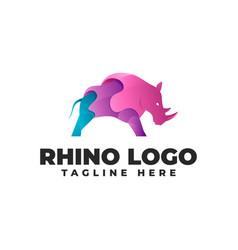 Rhino gradient modern logo vector