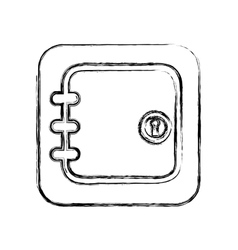 Safe box money isolated icon vector