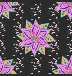 seamless floral pattern in flowers on colorful vector image
