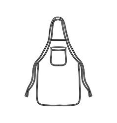 Silhouette kitchen apron cloth icon vector