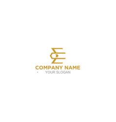 Simple ec logo design vector