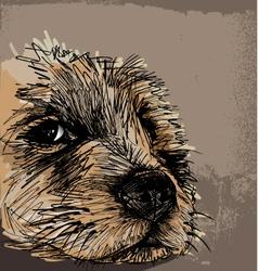 Sketch of a dog vector