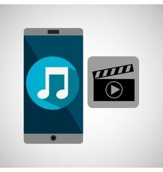 Smartphone music online movie vector