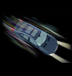 Speed dark sports car vector