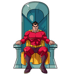 superhero on throne vector image