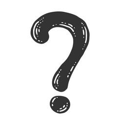 Symbol question mark sketch scratch board vector