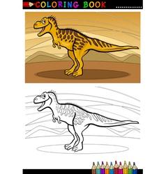 tarbosaurus dinosaur for coloring book vector image