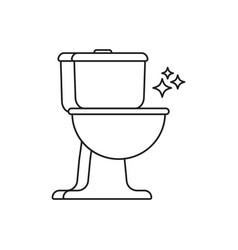 toilet cleaning linear icon vector image