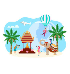 travelers in asia indonesia bali sightseeing vector image