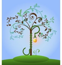 Tree of knowledge colored vector