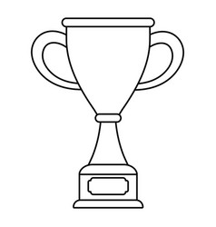 Trophy cup award on wooden box vector