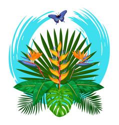 Tropical bouquet print vector