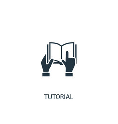 tutorial icon simple element vector image
