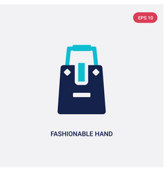 two color fashionable hand bag icon from fashion vector image