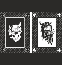 vikings lucky cards vector image