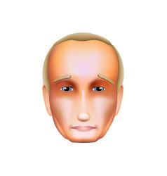 vladimir putin isolated on white icon october 30 vector image