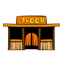western saloon icon icon cartoon vector image