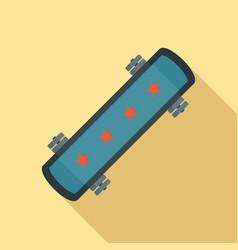 wheel skateboard icon flat style vector image