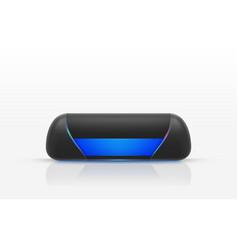 Wireless portable speaker to listen music vector