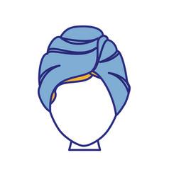 Woman in spa vector