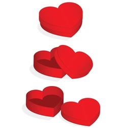 heart valentine box vector image vector image