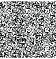 Abstract seamless pattern floral tribal style vector image vector image