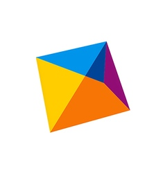 abstract shape geometry logo vector image vector image