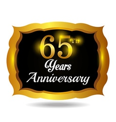 Anniversary label design vector image