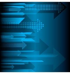 arrow blue background vector image