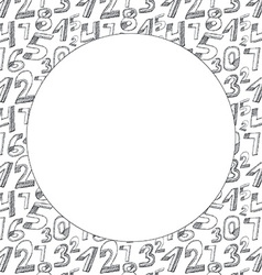 Background Black numbers on a white background vector image
