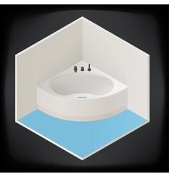 Jacuzzi corner bath isometric vector image vector image