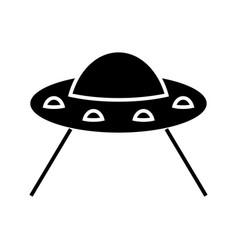 ufo taking cow icon black vector image