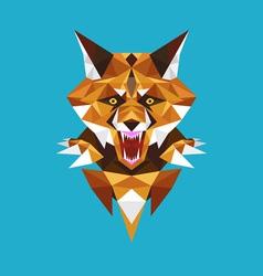 Wolf head polygon geometric vector