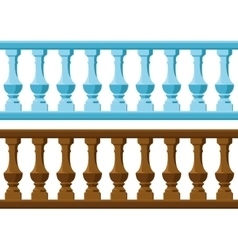wood and Stone railing vector image