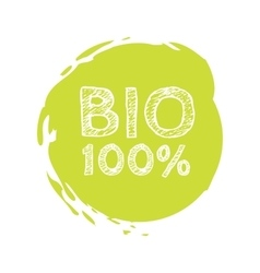 Grunge bio 100 percent natural rubber stamp vector image