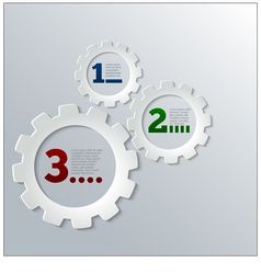 Paper Techno Gears Cog Wheels Infographics vector image vector image